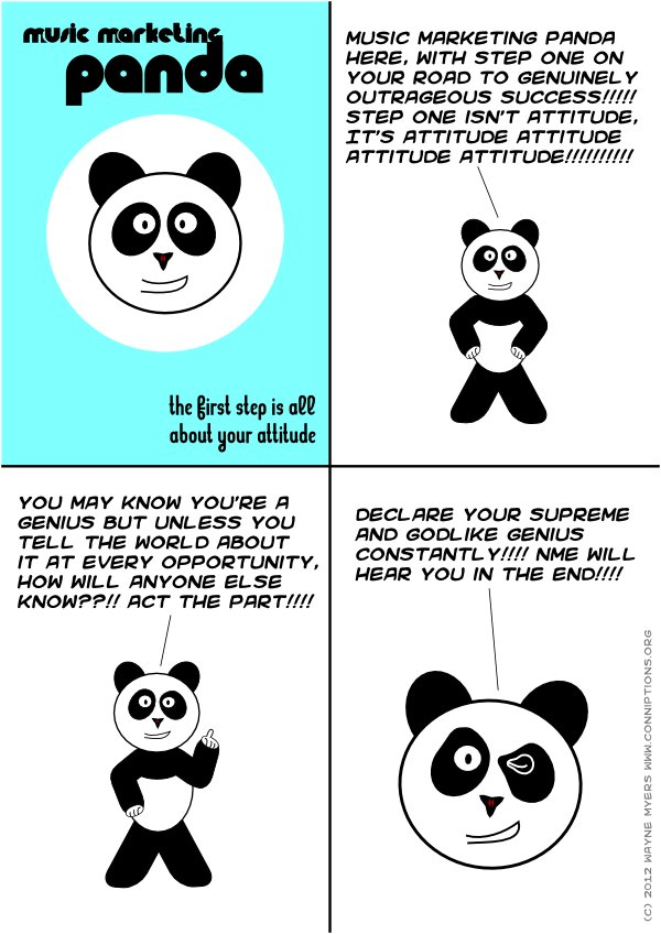 The panda means that there is no upper limit to how seriously you should take yourself.